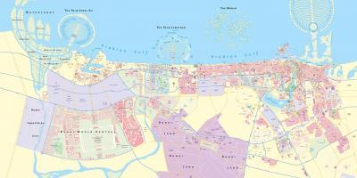 Dubai Arată Hartă Hărți Dubai Emiratele Arabe Unite
